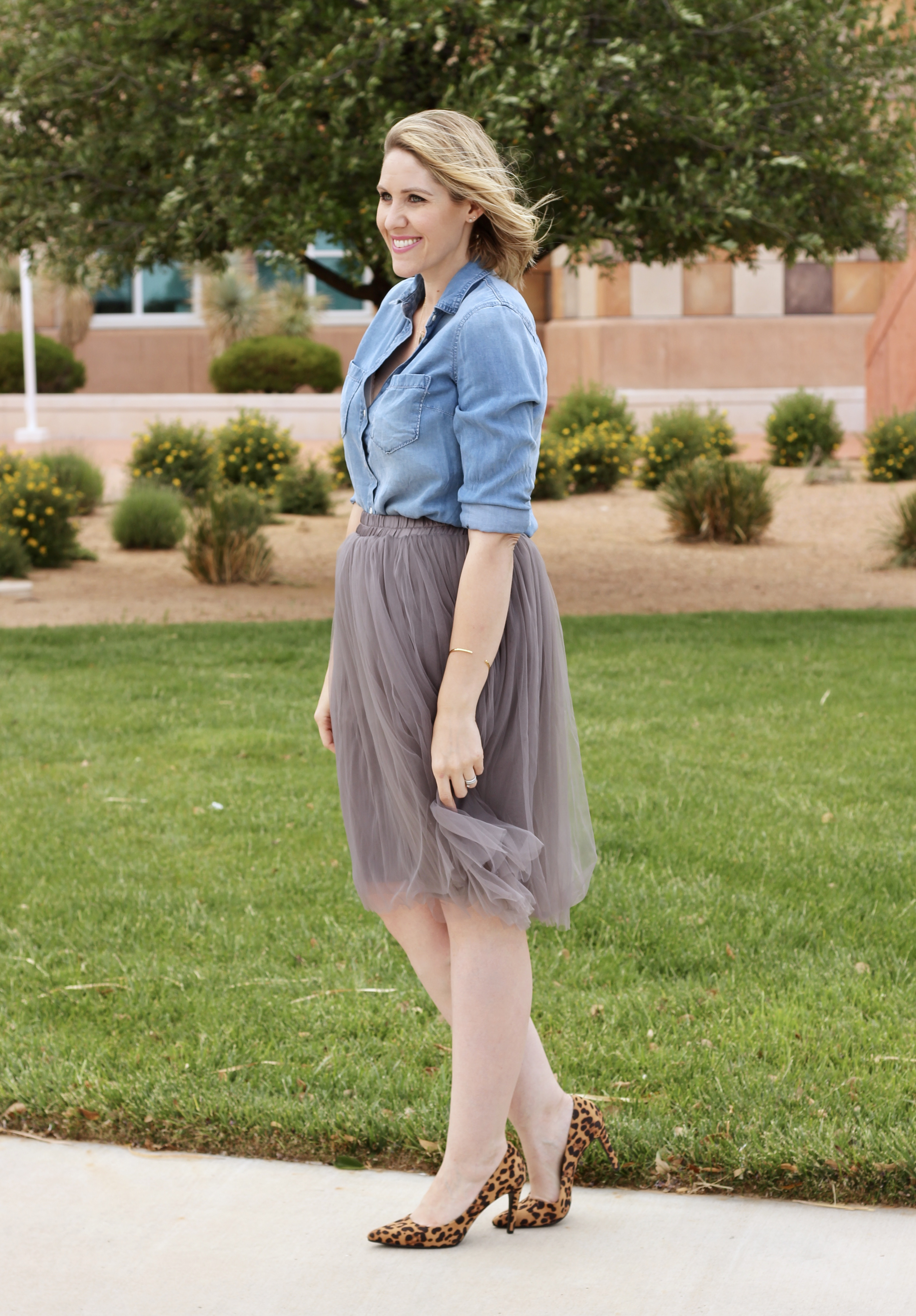 tulle skirt outfit for women