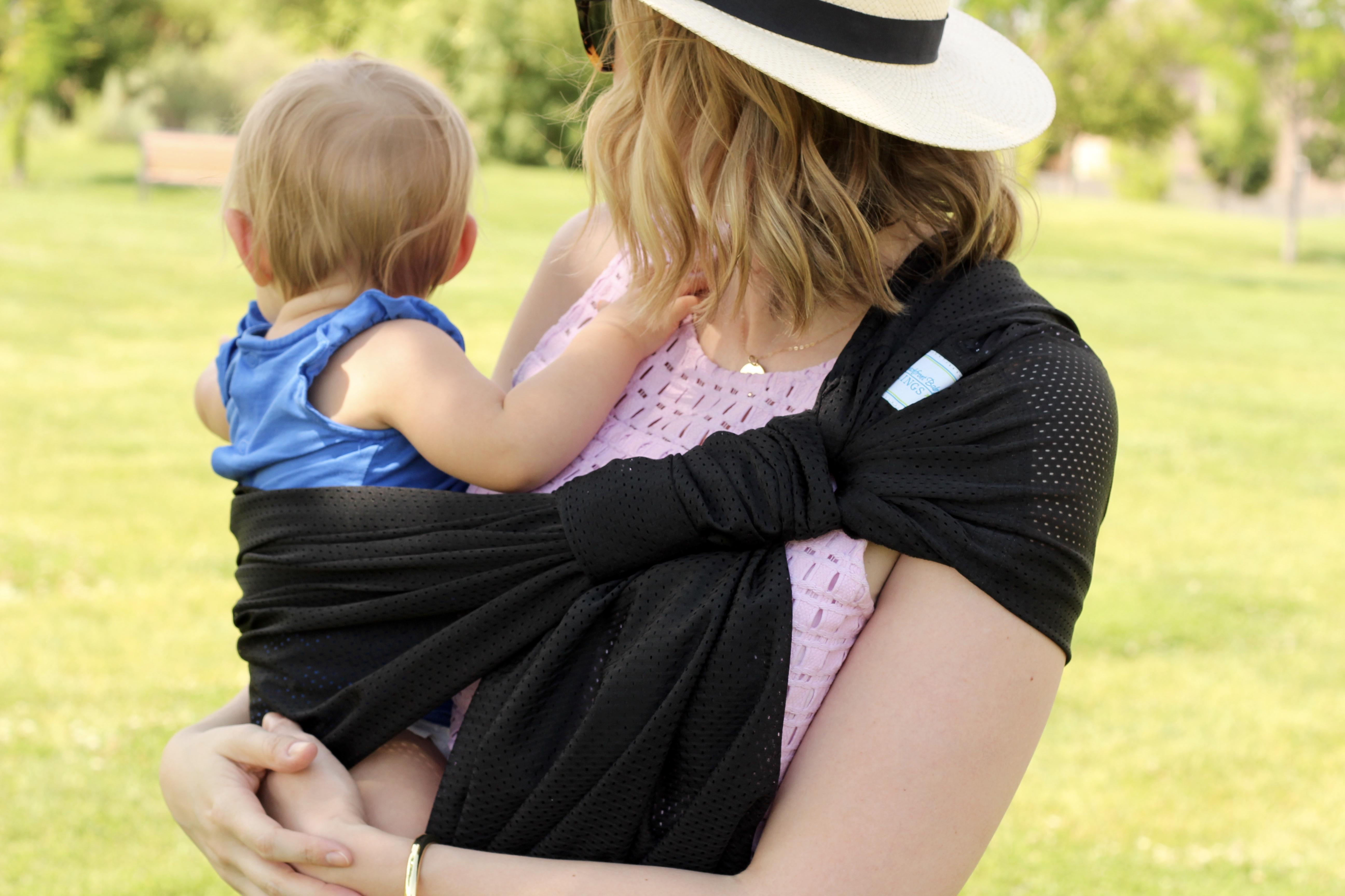 baby wearing with waterproof sling
