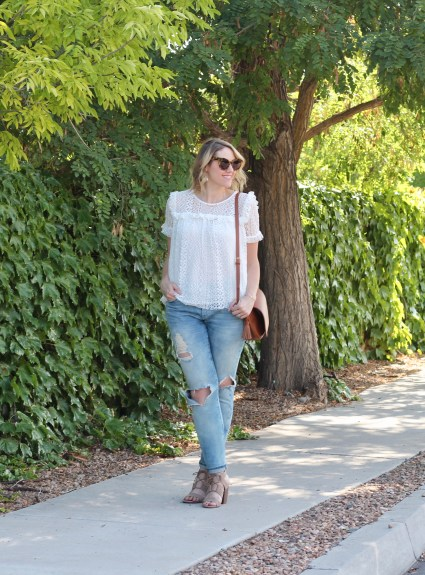 Two Ways to Style Distressed Jeans