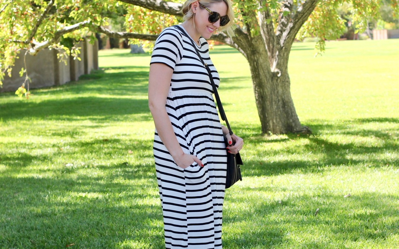 striped maxi dress for tall women