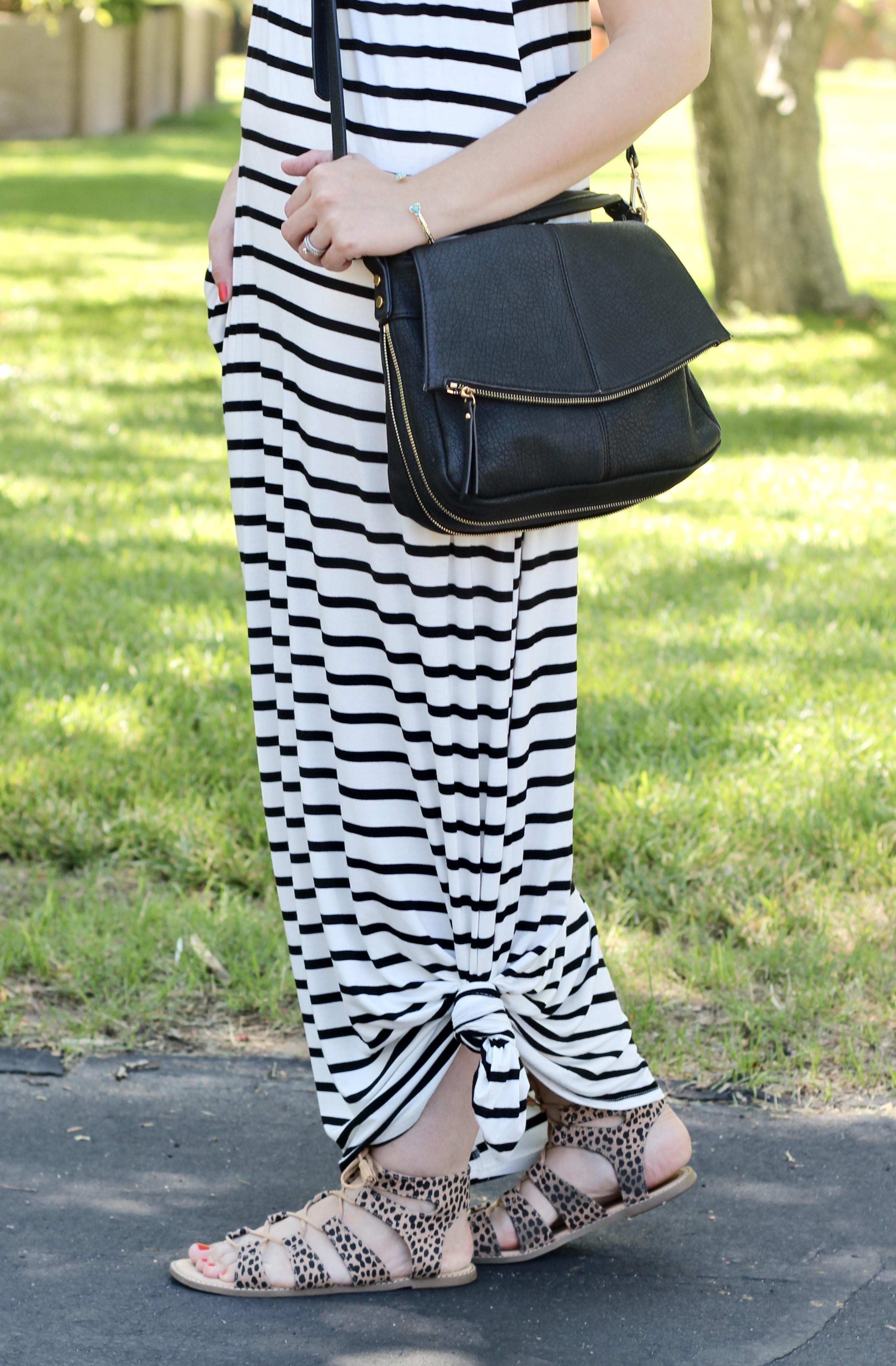knotted maxi dress outfit