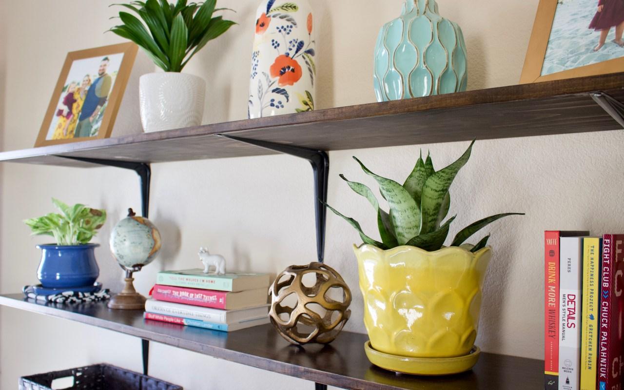Affordable DIY Shelves for Under $75