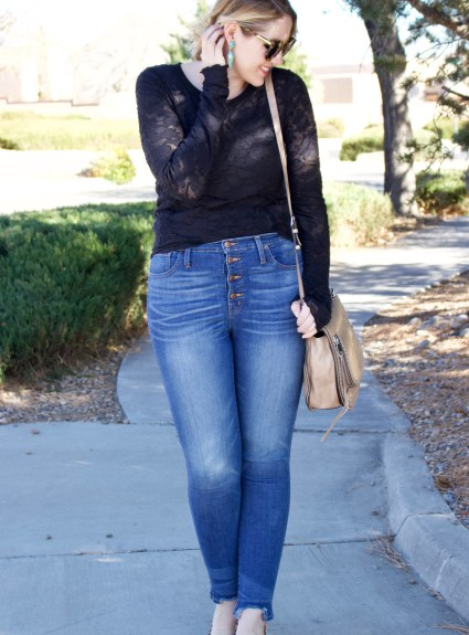 Date Night Style // High-Waisted Jeans