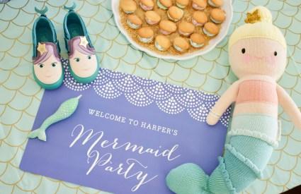 Harper's Mermaid Themed 3rd Birthday Party