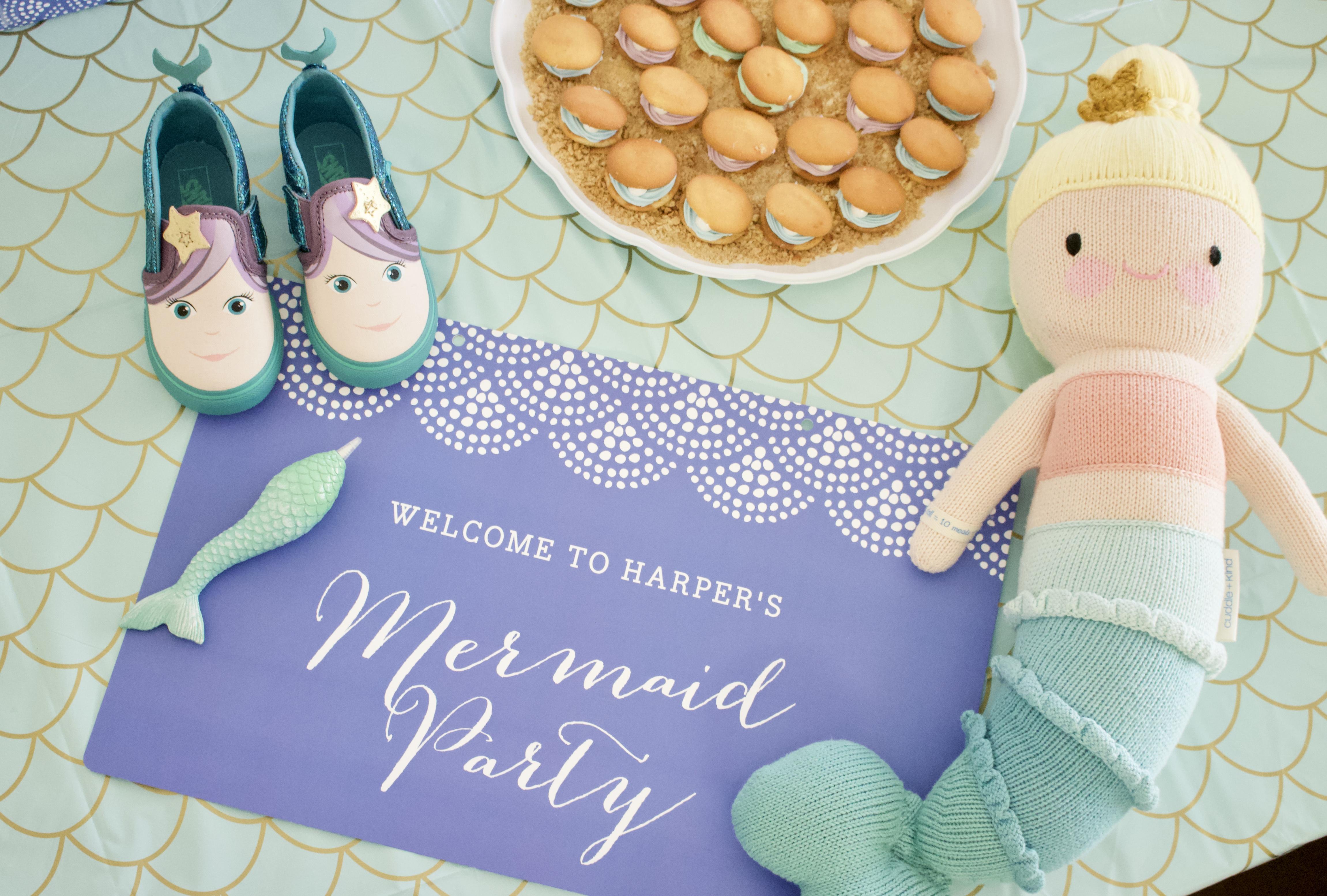 mermaid themed 3rd birthday party #mermaid #mermaidparty #birthdayparty #partydecor