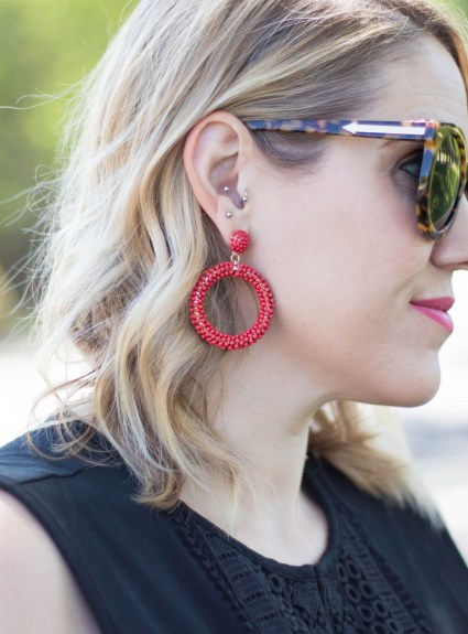 Red Statement Earrings: The Weekly Style Edit