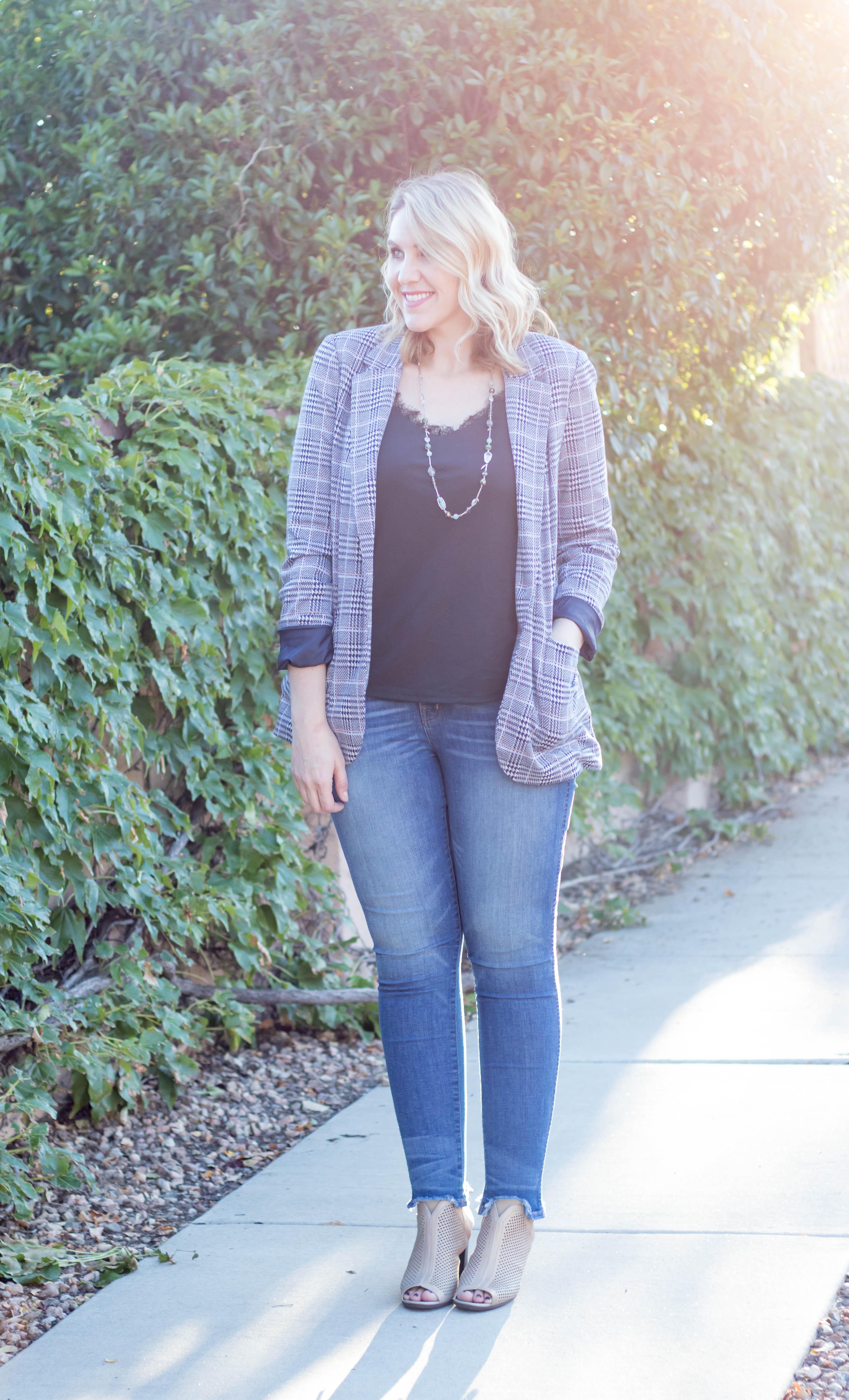 plaid blazer outfit #plaid #blazer #fallfashion #fall