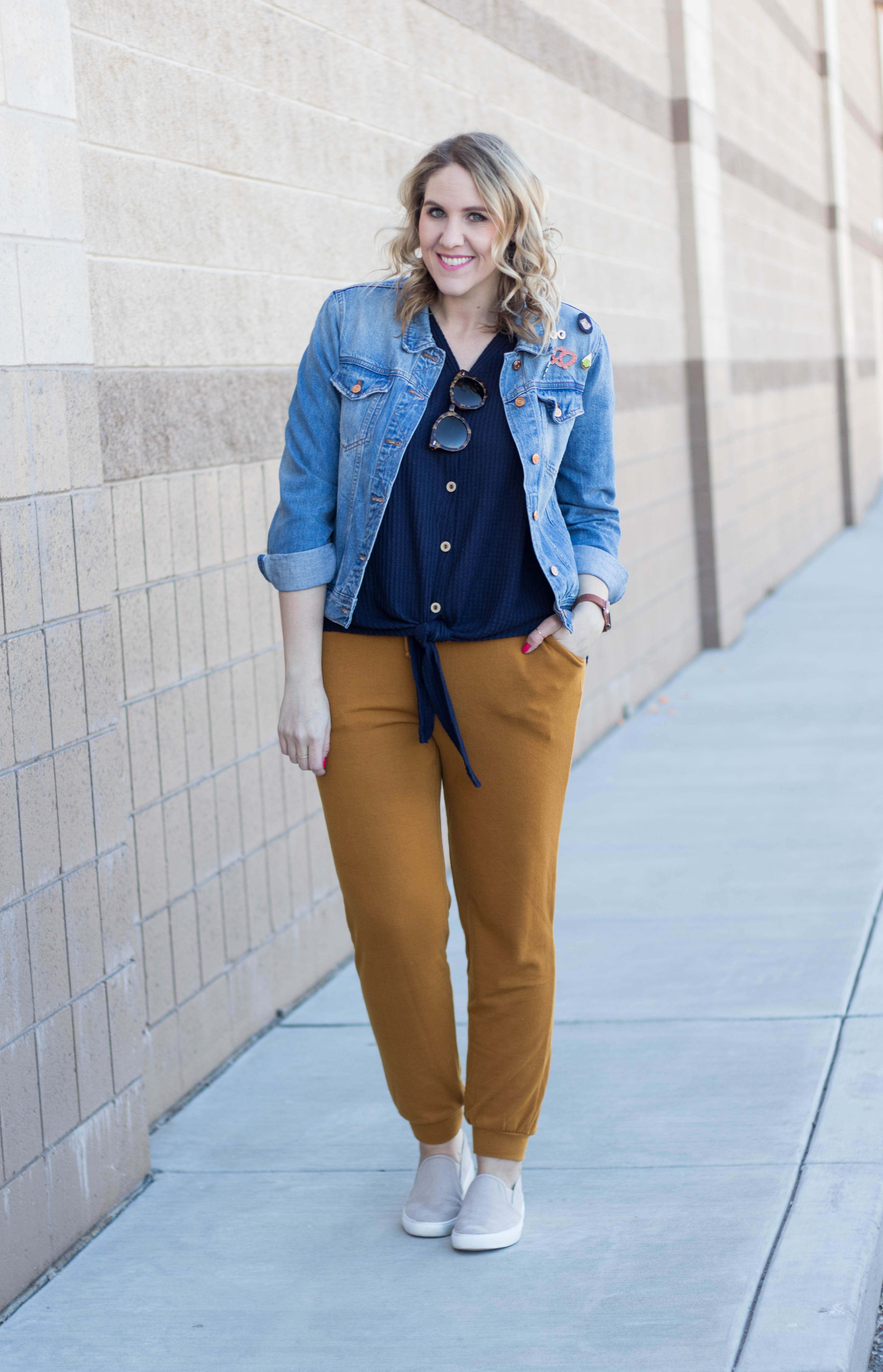 how to style joggers #joggers #momstyle #couponcode