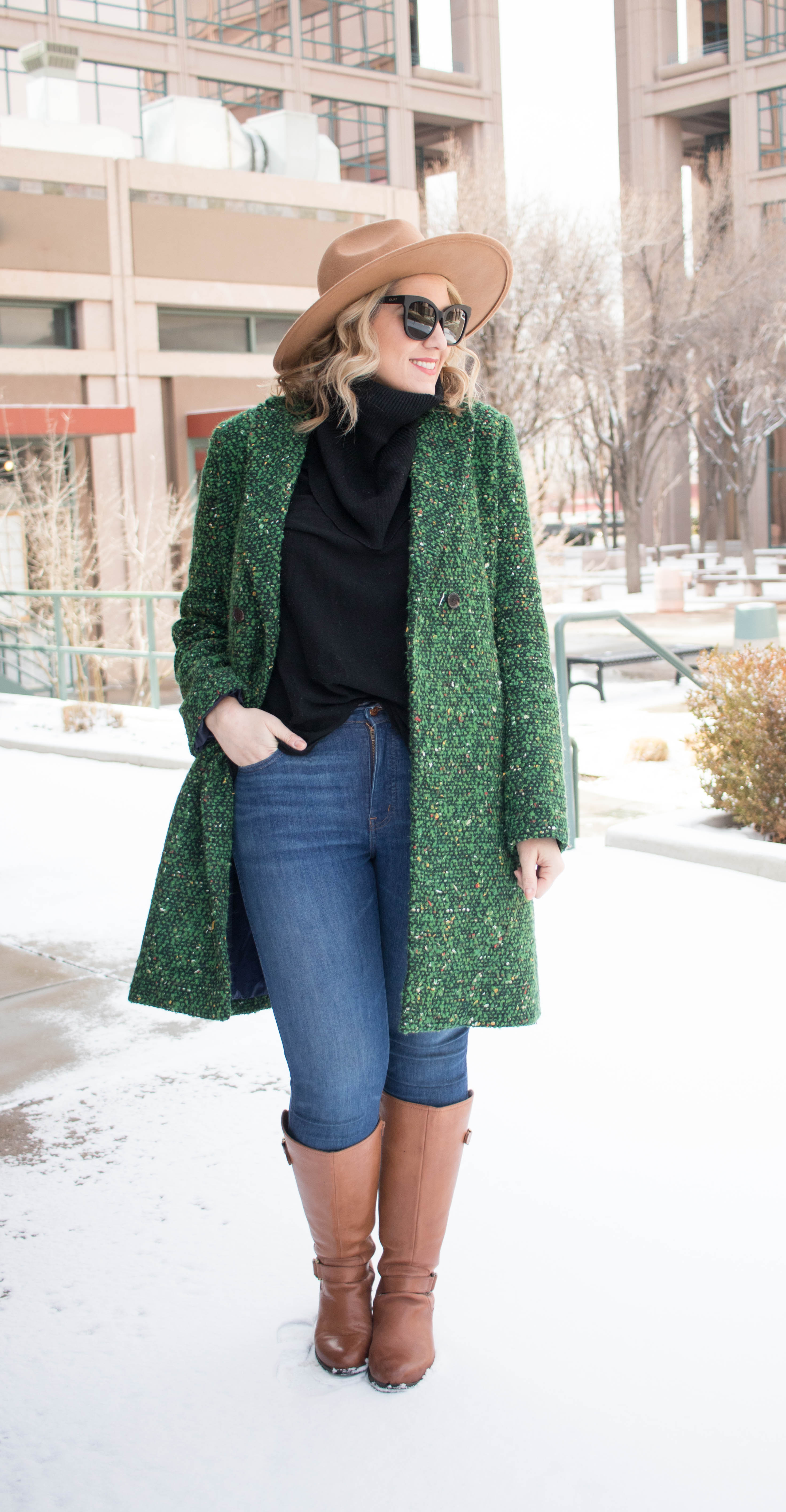 how to style tall riding boots #tallboots #widecalfboots #winterfashion