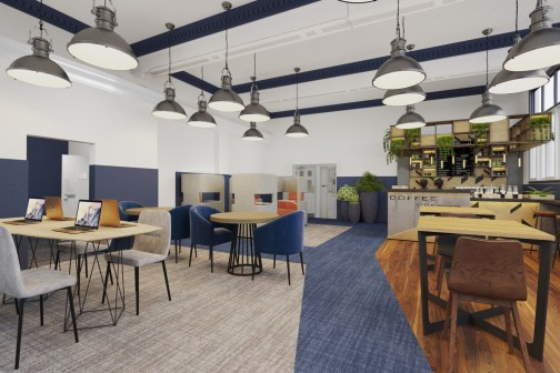 The Bank Space co-work CGI