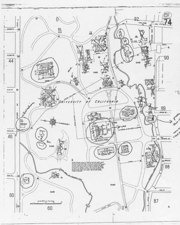 1911 Sanborne Fire Insurance Map of UC Berkeley