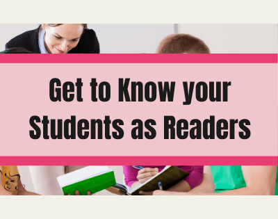 Get to know your students as readers