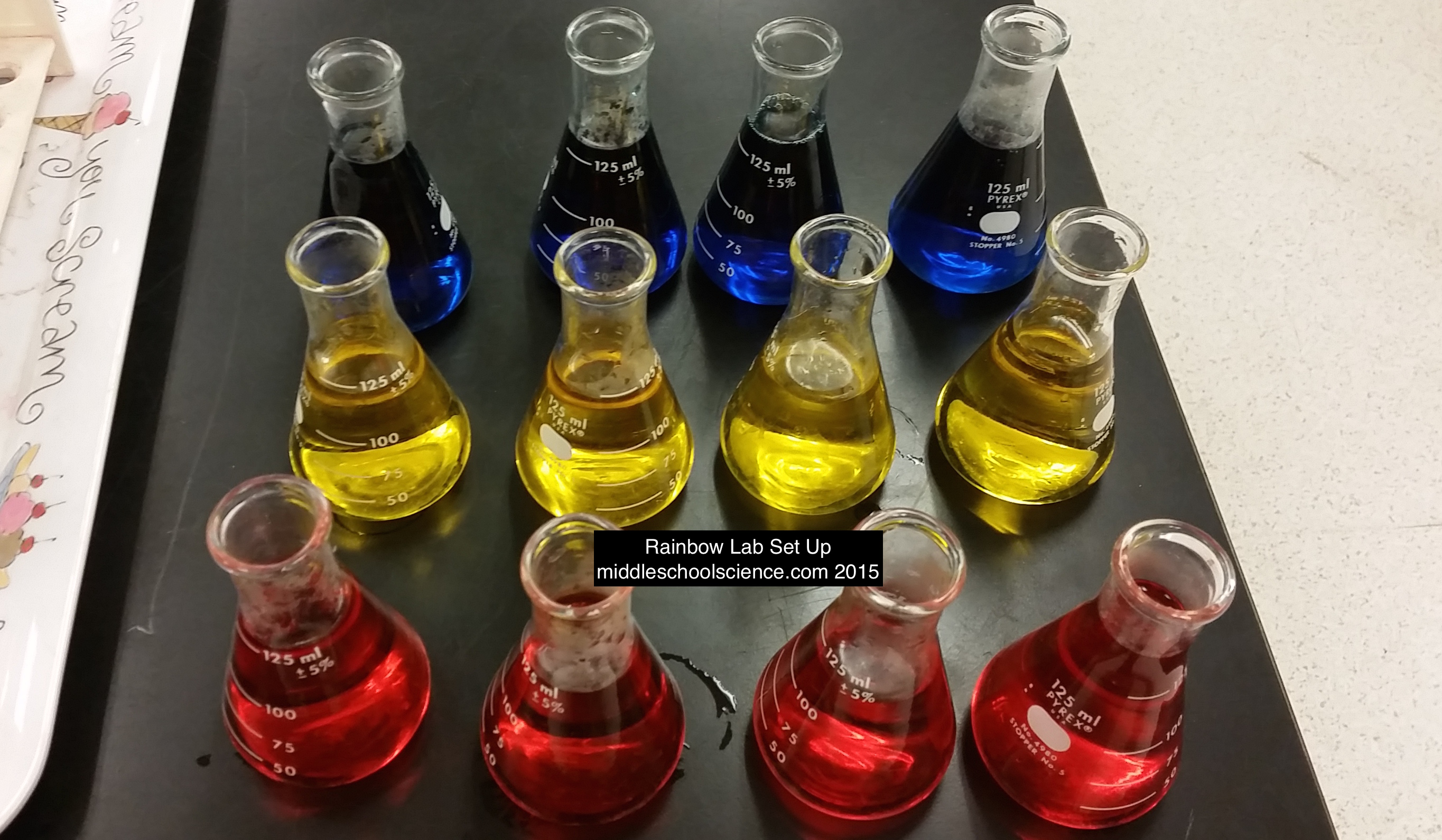 Rainbowlabsetupflasks Middle School Science Blog