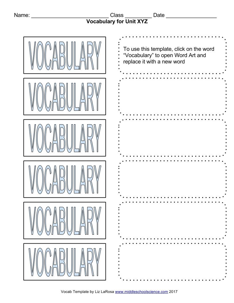 hight resolution of Vocabulary Bundle – Google Draw Template for Cut \u0026 Paste Activities – Middle  School Science Blog