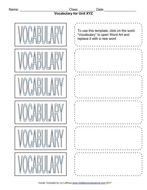 small resolution of Vocabulary Bundle – Google Draw Template for Cut \u0026 Paste Activities – Middle  School Science Blog