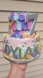 middle sister bakes mermaid cake dylan