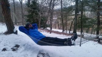 Feb 2015 - james snow hammocking