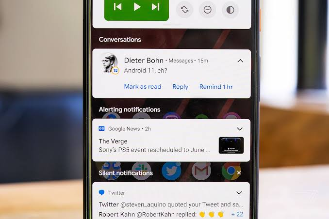Android 11 Notification , Contacts and Conversations