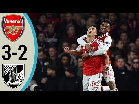 arsenal vs guimaraes 3-2 highlights