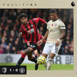bournemouth vs manchester united 1-0