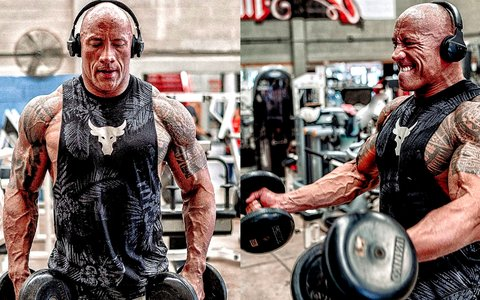 The Rock Shows Off Black Adam Physique With New Workout Photos