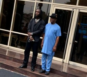 "Governor Wike Described Burna Boy As ""The Pride of Rivers State"""