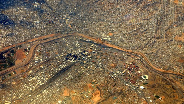 El Paso may have only 800k population, but when combined with Juarez, its 2 million