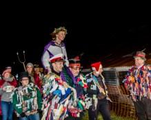 Taunton Deane Morris Men carrying their new Queen