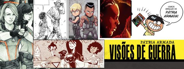 """unnamed-1 Quadrinho com heróis brasileiros, """"Pátria Armada: Visões de Guerra"""" reúne o trabalho de mais de 50 artistas e roteiristas"""
