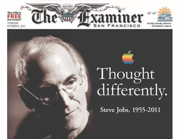 steven jobs jornais 1 - Capas e Manchetes: Mídias Internacionais dedicam o dia ao grande Steven Jobs