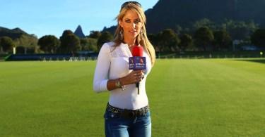 ines SAINZ reportera - Maior colecionador de ATARI do Brasil