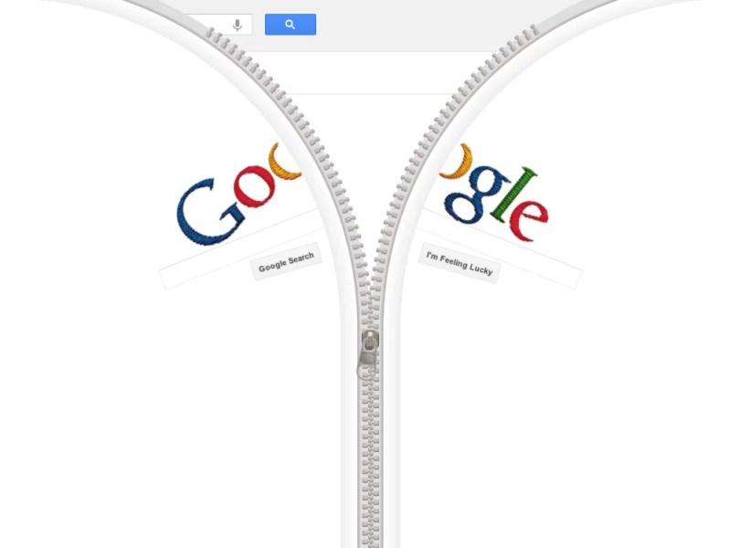 Google Homepage Becomes a Giant Zipper 2 - Inventor do Ziper: Gideon Sundback é homenageado pelo Google