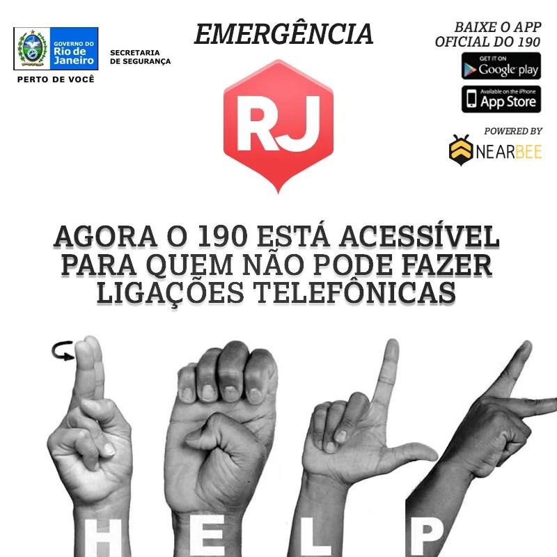 """01e26 nearbee - Aplicativo de """"Emergência Silenciosa 190"""" é lançado no Rio de Janeiro"""