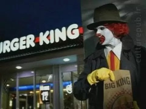 buerguer king - Loja da BurgerKing se fantasia de McDonald's no Haloween