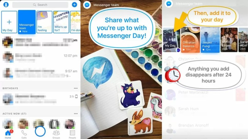 facebook messenger day - Zuckerberg copia Snapchat e cria o Facebook MessengerDay