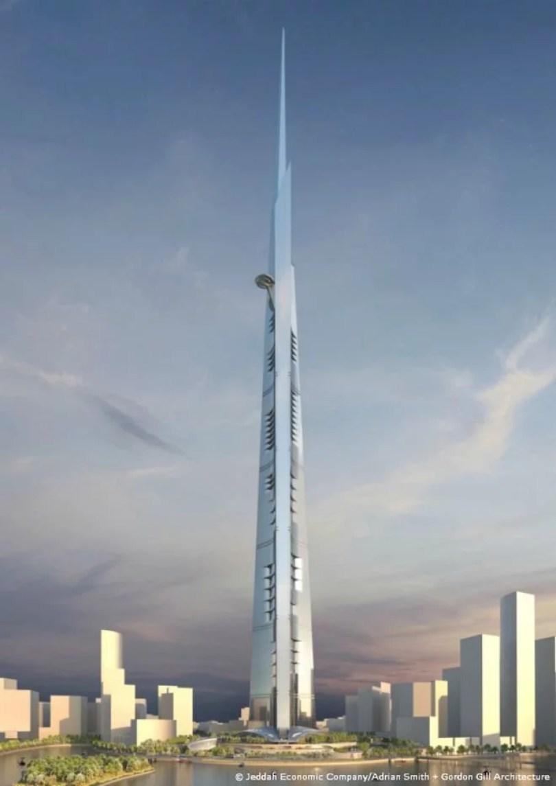 Fotos, Curiosidades, Comunicação, Jornalismo, Marketing, Propaganda, Mídia Interessante kingdom-tower1 Maior prédio do mundo Kingdom Tower terá 1 km de altura Curiosidades  perderá o posto de maior torre pelas suas construções para o Kingdom Tower ou também conhecido Jeddah Tower mega inimagináveis já é conhecido Emirados Árabes Unidos do mundo com 200 andares. A torre já está sendo construída na cidade de Jeddah. O custo da obra será de 1.23 bilhões e ficará pronto em 2020. Atualmente o Burj Khalifa
