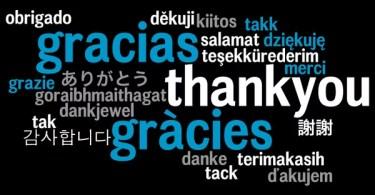 obrigado todos idiomas
