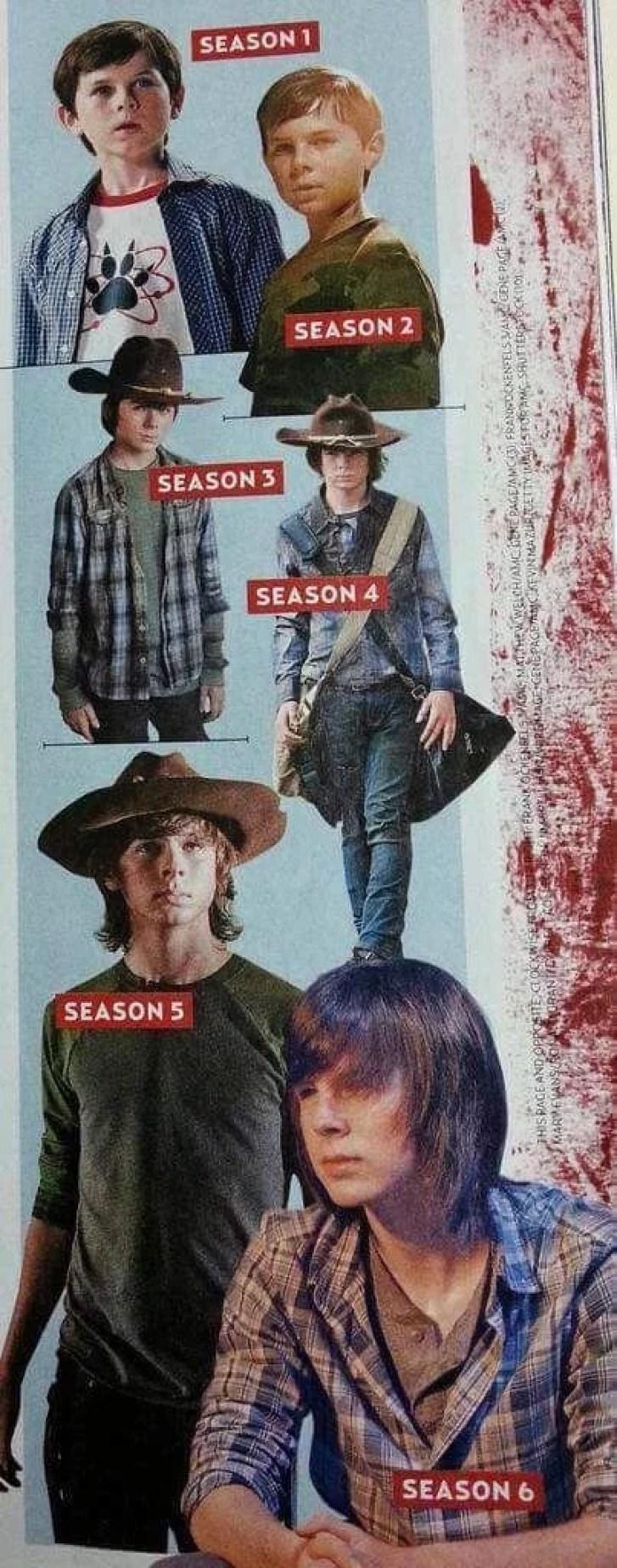 twd evolução karl - Evolução do ator que interpreta Carl na série The Walking Dead