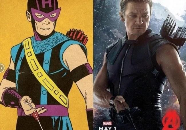 Avengers originales comparados con los poster de la película 5 730x510 650x454 - Fotos dos super-heróis da Marvel que foram copiadas dos quadrinhos
