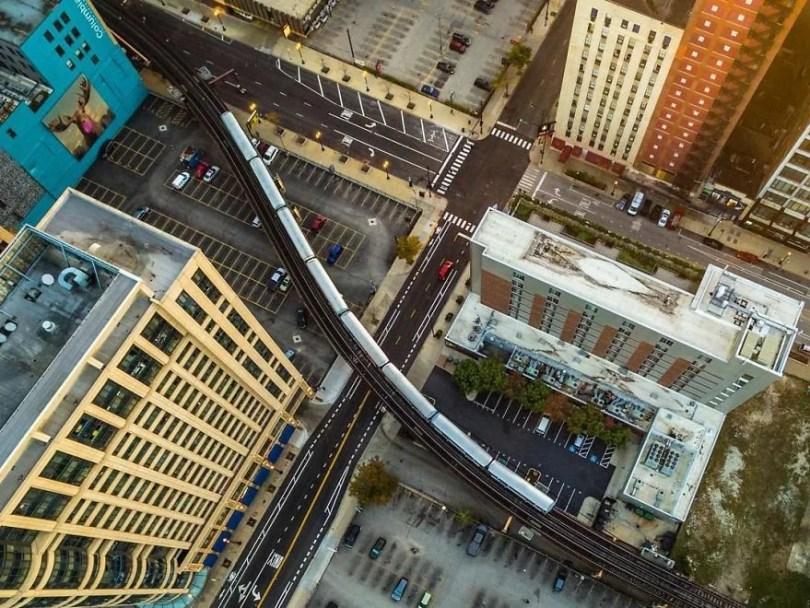 drone 8 Chicago From Above Awesome Bumblebee Photograph by Razvan Sera 5922d3e6af14e  880 - Chicago e as novas perspectivas do olhar humano por Drones