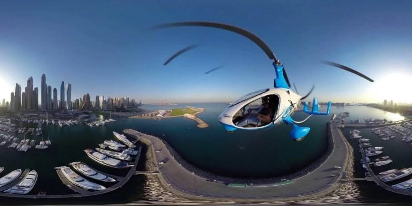 dubai helicoptero - FANT360 - Fantástico cria projeto 360