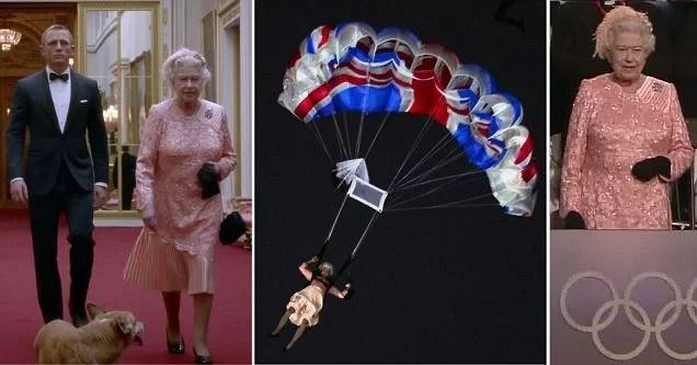 duble 4 - Olímpidas Londres 2012: James Bond acompanha Rainha Elizabete ao salto