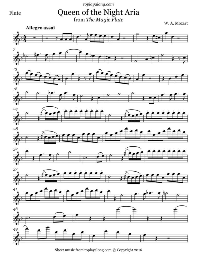 Fotos, Curiosidades, Comunicação, Jornalismo, Marketing, Propaganda, Mídia Interessante partitura-rainha-da-noite Quem são as cantoras que desafiaram cantar a Rainha da Noite? Curiosidades Música  Rainha da Noite flauta magia de mozart cantoras liricas