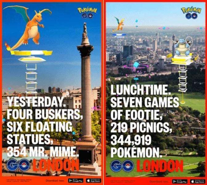 """pokemon go cartaz outdoor4 - Pokemon Go comemora aniversário com """"Outdoors"""" em algumas cidades"""