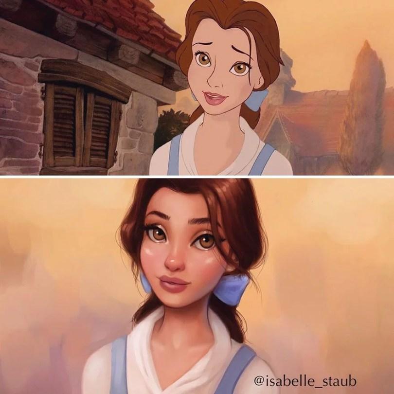 repainted disney princesses isabelle staub 7 58f5b5002413f  880 - Ilustradora faz design de princesas da Disney em estilo único