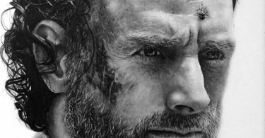 rick grimes drawing   the walking dead by names76 d9azgjl - Maior colecionador de consoles de video game do Brasil