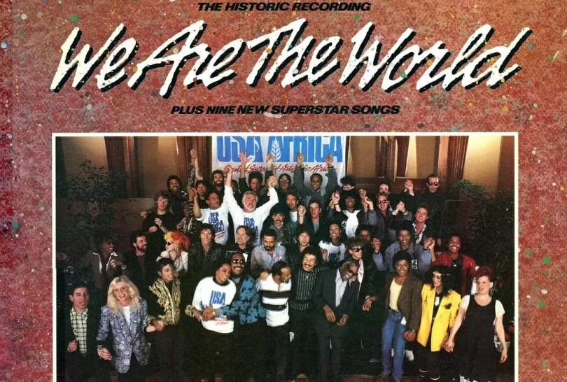"watw album cover - Mais de 30 anos: Michael Jackson e Leonel Richie escrevem ""We are the World"""