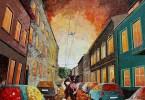 Paisagens urbanas que parecem pinturas a óleo que eu crio usando apenas papel e cola2
