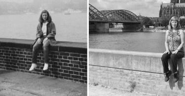 Fotos, Curiosidades, Comunicação, Jornalismo, Marketing, Propaganda, Mídia Interessante foto-antes-e-depois-mulher-30-anos-depois Mulher tira foto no mesmo lugar 30 anos depois Fotos e fatos Lembranças  foto no mesmo lugar