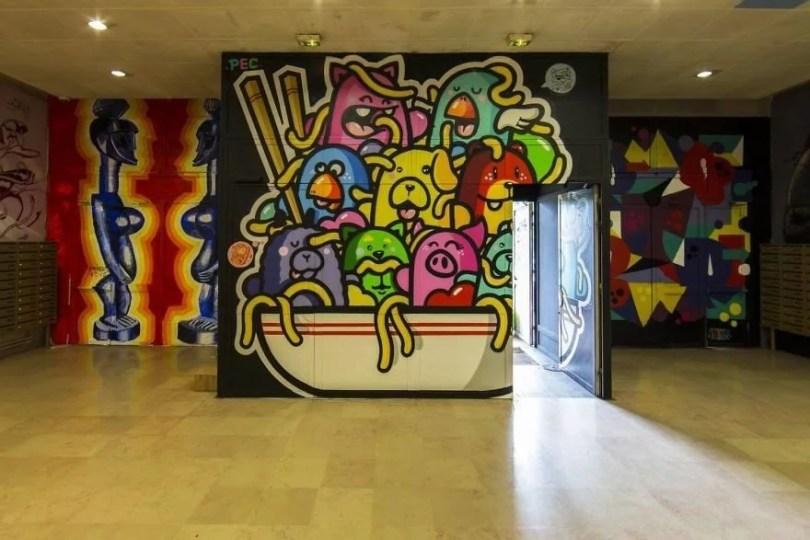 grafite pinturas artistas 14 - Grafiteiros pintam uma residência estudantil e o resultado chama atenção